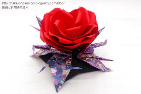 鶴と薔薇のお正月飾り(U6w-4)