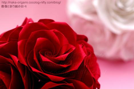 薔薇のくす玉U4-30と薔薇のくす玉U5j-60 創作:中 一隆