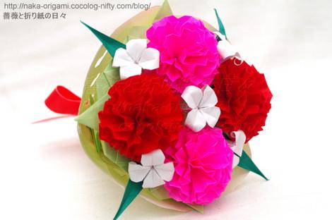 カーネーション(9セル)の花束