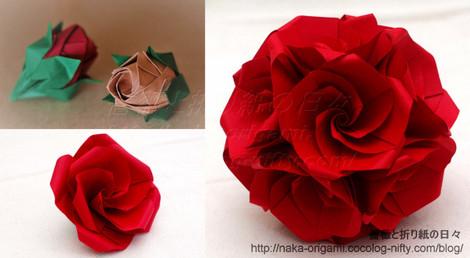 3月25日(日)「花の折り紙1日講座」 作品サンプル