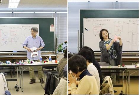 3/25「花の折り紙1日講座」講習風景