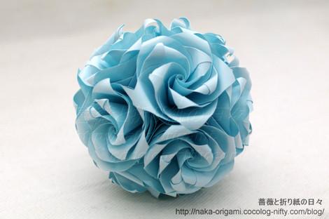 薔薇のくす玉(U14-30) 創作:中 一隆