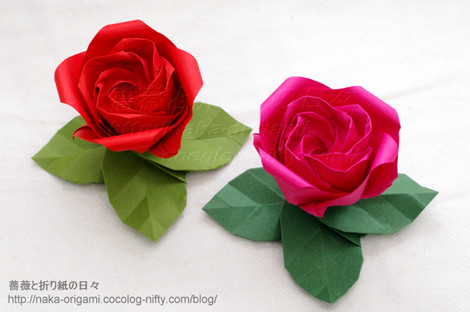 薔薇W1と葉っぱの台 創作:中 一隆
