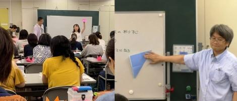 花の折り紙一日講座(8月4日)講習風景