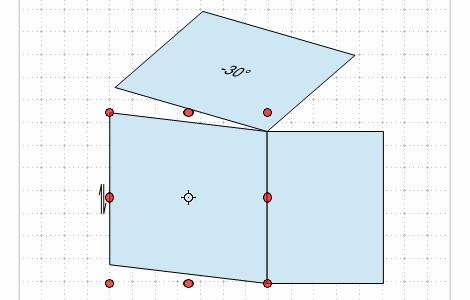 折り図のお絵描き ー3(立体図と投影)Fig11