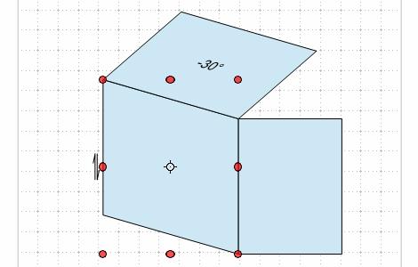 折り図のお絵描き ー3(立体図と投影)Fig12