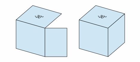 折り図のお絵描き ー3(立体図と投影)Fig13