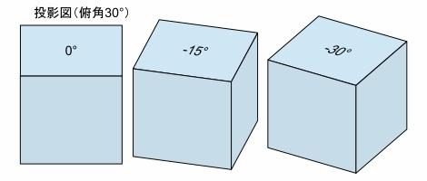 折り図のお絵描き ー3(立体図と投影)Fig4