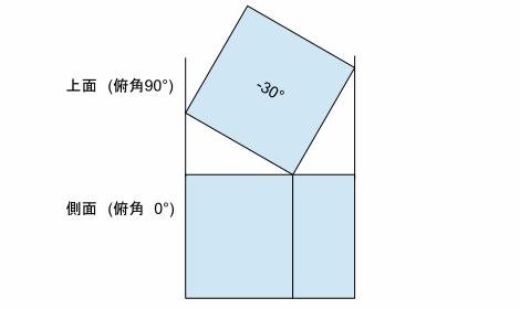 折り図のお絵描き ー3(立体図と投影)Fig6