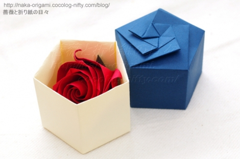 薔薇C4 と 五角箱 創作:中 一隆