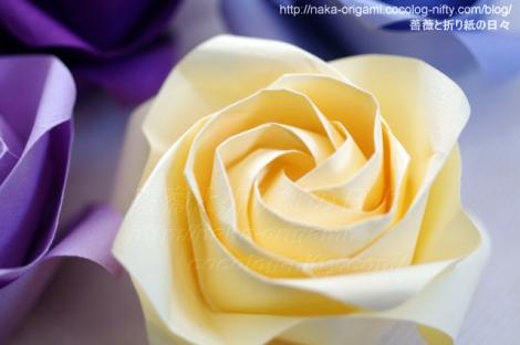 川崎ローズ「薔薇」の複合ねじり折りアレンジ アレンジ:中 一隆