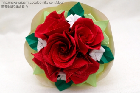 バラの花束 創作:中 一隆