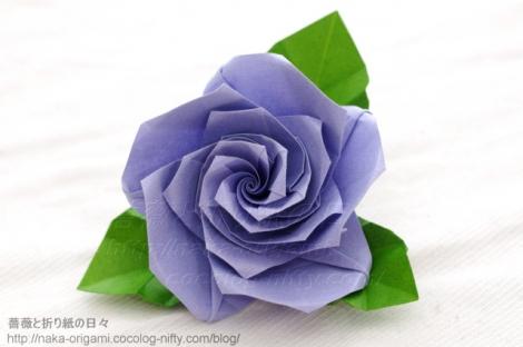 薔薇(U5-5)のコサージュ 創作:中 一隆
