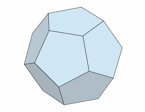 くす玉の立体構造:正十二面体