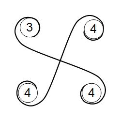 斜方立方八面体の4枚羽ユニットによる組み方