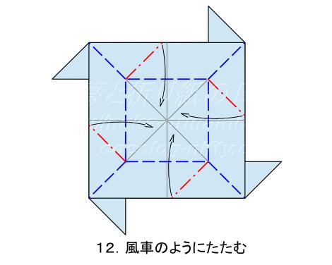 平面のバラ 創作:中 一隆 手順12